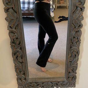 Lululemon wide leg black yoga pants